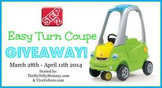 Step 2 Easy Turn Coupe Giveaway - ends 4/11