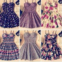 Cute summer dresses. Which one is your favorite?