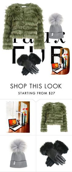 """""""Real Fur"""" by annkitrichdge ❤ liked on Polyvore featuring Alice + Olivia"""