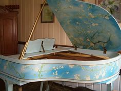 "Baldwin Art Case Piano Featuring Van Gogh's ""Almond Blossoms"""