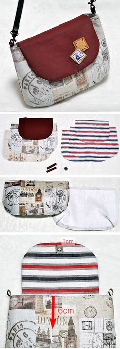 26 New Ideas Sewing Bags Diy Handbags Tuto Sac Bag Quilt, Diy Bags Tutorial, Pouch Tutorial, Bag Tutorials, Sewing Tutorials, Blouse Tutorial, Tutorial Sewing, Diy Bags No Sew, Sew Bags