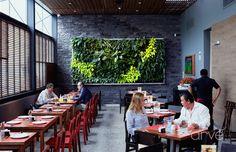 Cuadro Vegetal de acero inoxidable , Restaurante Nikko La Mar