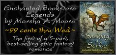 The Enchanted Bookstore Legends are an epic 5-part journey of adventure, dragons, wizards & romance. Begin the quest with Seeking a Scribe, on sale for 99¢ thru Wed. 2-10-16! http://amzn.to/1wUEkWO