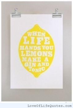 When life hands you lemons - http://www.loveoflifequotes.com/funny/life-hands-lemons/