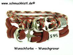 Herrenschmuck Armband aus Paracord von www.Schmuckkistl.de auf DaWanda