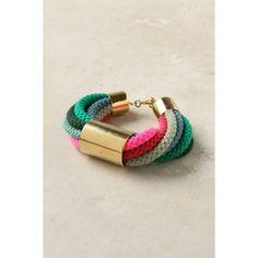 Corded Neon Bracelet via Polyvore