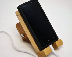 Cell Phone Smartphone stand hand made of solid by FreeStyleWorks