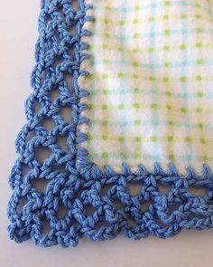 Free Crochet Patterns For Receiving Blankets : Crochet Edging on Pinterest Crochet Edgings, Fleece Baby ...