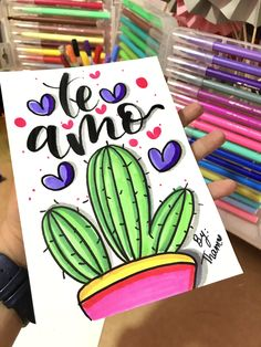 Bullet Journal Banner, Diy And Crafts, Paper Crafts, Cactus Art, Lettering Tutorial, Cute Drawings, Boyfriend Gifts, Doodle Art, Diy Gifts