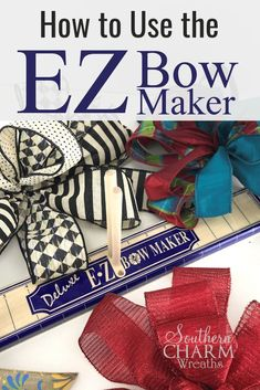 If you struggle with hand tying bows, you might want to try the EZ Bow Maker. Just as the name implies, it's easy!  via @southernwreaths - #wreathmaking #DIY #southerncharmwreaths