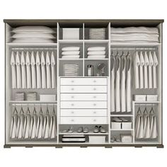 Guarda-Roupa Jatobá 6 Portas Henn in 2020 Wardrobe Design Bedroom, Bedroom Wardrobe, Wardrobe Closet, Bedroom Decor, Bedroom Cupboard Designs, Bedroom Cupboards, Wardrobe Organisation, Closet Layout, Closet Shelves