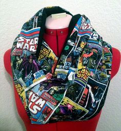 Hey, I found this really awesome Etsy listing at https://www.etsy.com/listing/212763475/star-wars-comic-print-infinity-scarf