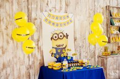 MINIONS Birthday Party Ideas | Photo 2 of 27 | Catch My Party
