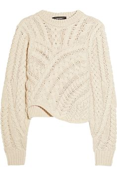 Isabel Marant Versus cable-knit wool sweater