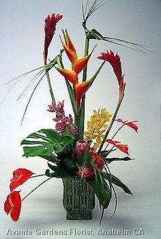 Tropical Design with Woven Birds