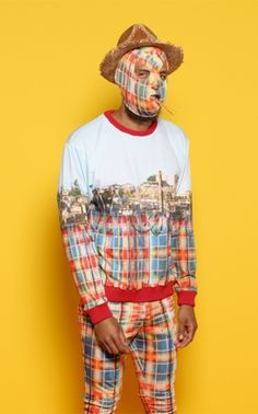 agi | mexican fence digital print sweater