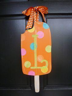 Summer Door Hanger: Ice Cream Cone Door Hanger, Door Decoration ...