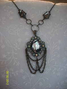 Lace & Chains Amulet Necklace by DysfunctionalAries on Etsy, $25.00
