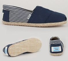 New TOMS Women's Shoes Classics University Navy Rope Sole Size 8.5