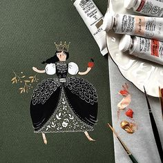I'm trying gold gouache by @winsornewton for the first time and I love it! Dinara Mirtalipova - @mirdinara