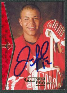 Autograph Authentic Jarome Iginla Autographed 1995 Upper Deck Number 181 Rookie Card, As Shown Upper Deck, Ronald Mcdonald, Spa, Fitness, Sports, Cards, Hs Sports, Maps, Sport