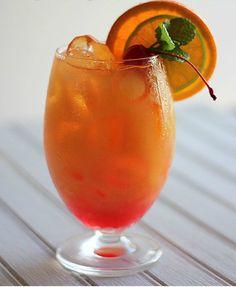 Mai Tai park dark rum 1 part light rum 2 parts orange juice 1 part triple sec part lime juice Splash of grenadine) (summer rum drinks orange juice) Bar Drinks, Non Alcoholic Drinks, Cocktail Drinks, Fruit Drinks, Fruit Juice, Mai Tai Cocktail Recipes, Cocktail Ideas, Drink Menu, Alcohol Drink Recipes