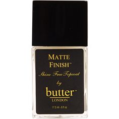 This doubled my nail wardrobe! Gives it an entire new look!  Butter London - Matte Finish Topcoat