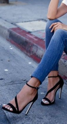Ankle Strap Heels / #fashion #shoes #high #heels