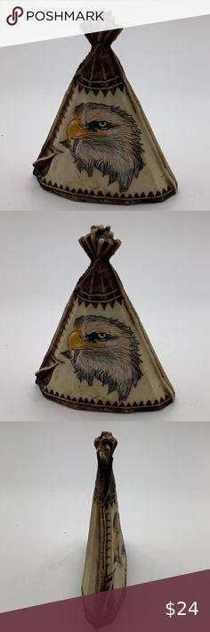 Native American Engraved Eagle TeePee Figurine