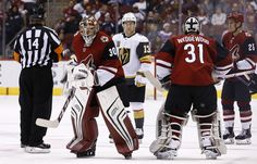 Second period outburst sends Golden Knights past Coyotes, win straight Coyotes Hockey, Arizona Coyotes, Vegas Golden Knights, Hockey Games, Left Wing, Referee, Skates, Cousins, Nhl
