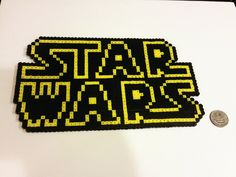 Star Wars logo perler beads by TeamPrincessArt