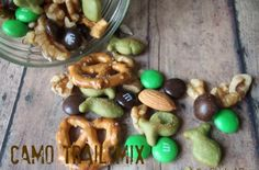 The Chick n' Coop: Hunter's Camo Trail Mix for my nephew's birthday Camo Birthday Party, Hunting Birthday, 1st Birthday Parties, Boy Birthday, Birthday Ideas, Happy Birthday, Kid Parties, Birthday Cakes, Camouflage Party