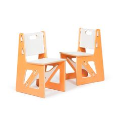 Two Modern Kids Chairs by Sprout. Kids love the fun colors, and parents love the durability and functionality.