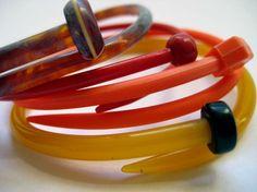 Etsy Transaction - Krnitting Needle Bracelets Autumn leaves SMALL Set of 4 - Handmade in Australia Recycled Jewelry, Recycled Art, Handmade Jewelry, Knitting Projects, Knitting Patterns, Diy Knitting Needles, Yarn Stash, Jewelry Art, Jewellery