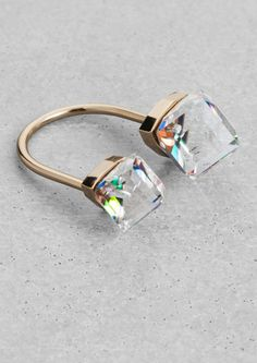 & Other Stories   Diamond Open Ring.