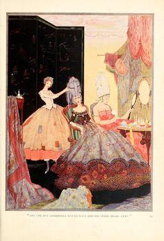 Cendrillon arrange les cheveux de sa belle-mère avant le bal.   15 illustrations magnifiques de contes de fées
