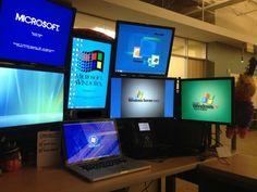 My desk.......I don't have enough monitors :-P