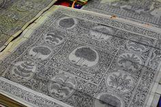 Pattachitra, the traditional art of Orissa derives it's name from 'pata' - canvas and 'chitra' - painting. This piece was created by etching designs on processed palm leaves and applying a wash of kajal(kohl), which remains in the etched parts and took about a week to make by the artisans. I have so much respect for their work! Blog post coming soon!  #closetdance #pattachitra #artisans #orissa #India #Indian #art #painting #heritage #proudIndian #traditional #artform #classic #indianart…