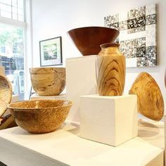 Wooden Bowls and Vases by Rick Rickman. ($69-$110) www.annarborartcenter.org