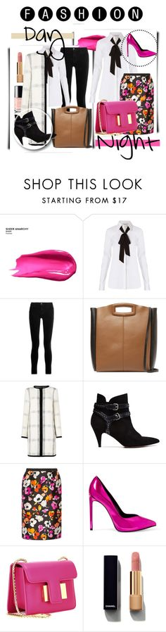 """""""Day and Night Outfit"""" by raysagomez ❤ liked on Polyvore featuring Urban Decay, Diane Von Furstenberg, J Brand, Maje, L.K.Bennett, IRO, Oscar de la Renta, Yves Saint Laurent, Tom Ford and Chanel"""