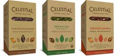 New Logo and Packaging for Celestial Seasonings by Tether | graphic design. visual communication. packaging. package design. label design. branding. layout. hierarchy. illustration. die cut.