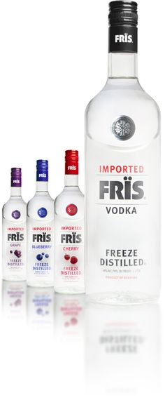 FRÏS VODKA: The very best. Uses patented freeze distillation process which makes it the smoothest vodka ever