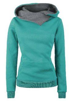 Casual Style Loose-Fitting Solid Color Long Sleeve Women's HoodieSweatshirts & Hoodies | RoseGal.com