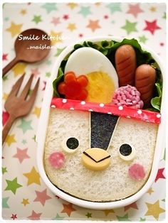 penguin sandwich bento  #kids #eat #kidseating #nice #tasty #food #kidsfood #dessert