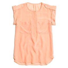 Silk Roll-Sleeve Cargo Shirt / Madewell