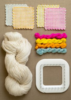 Whit's Knits: Pin LoomCoasters - The Purl Bee