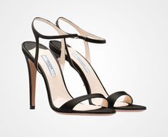 Sandale en satin, PRADA