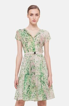 Free shipping and returns on Akris Print Silk A-Line Shirtdress at Nordstrom.com. A watercolor clover print washes verdant color over a diaphanous shirtdress cut to flutter from the natural waist into a gentle A-line silhouette.