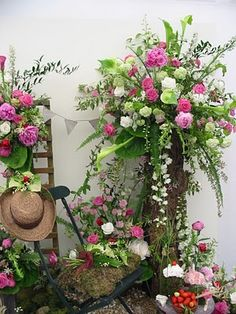 Flower arrangements at Chelsea 2010