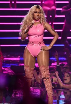 Think pink! Nicki Minaj joined the stunner on stage